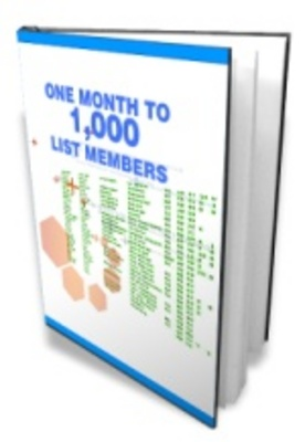 Product picture One Month To 1000 List Members For You